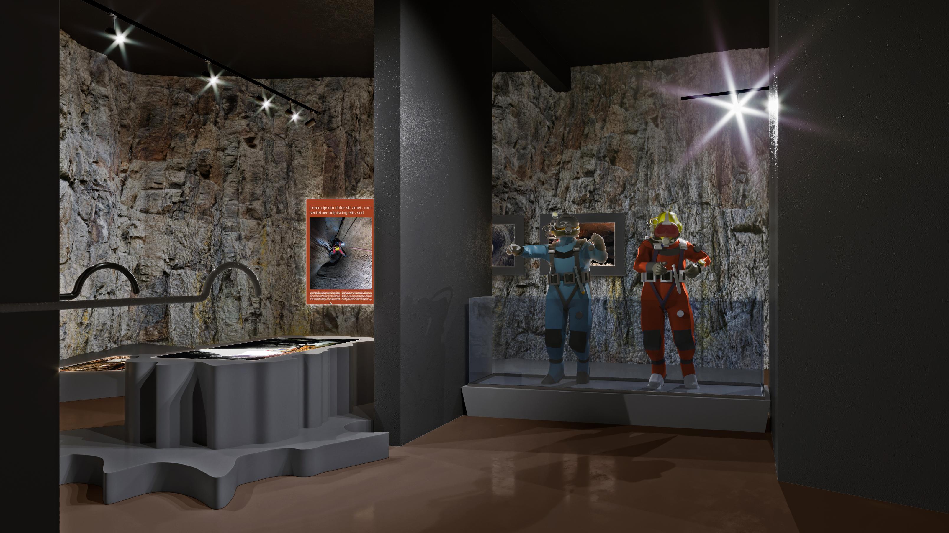 izložbeni postav speleologije